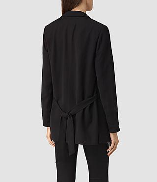 Womens Roya Split Blazer (Black) - product_image_alt_text_3