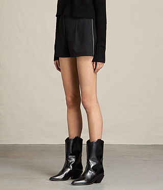 Mujer Ivy Rib Shorts (Black) - product_image_alt_text_2
