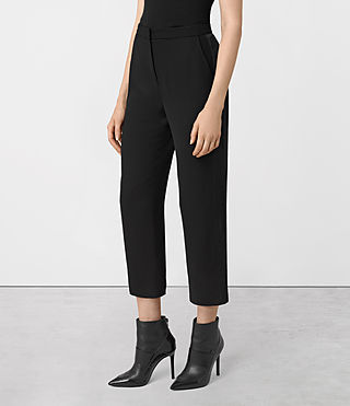 Mujer Roya Trousers (Black) - product_image_alt_text_2