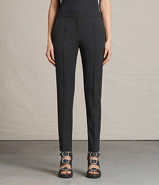 Damen Ivy Rib Trousers (Black)