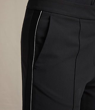 Mujer Ivy Rib Trousers (Black) - product_image_alt_text_2