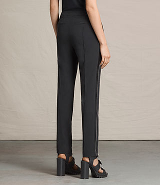 Mujer Ivy Rib Trousers (Black) - product_image_alt_text_4
