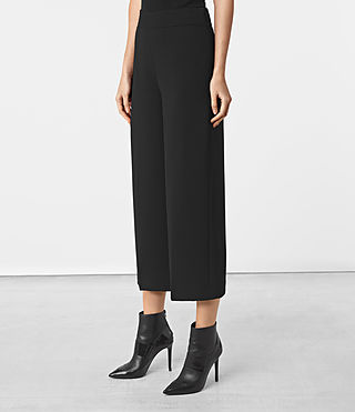 Women's Arya Trousers (Black) - product_image_alt_text_2