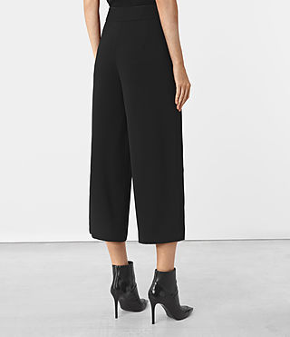Women's Arya Trousers (Black) - product_image_alt_text_3