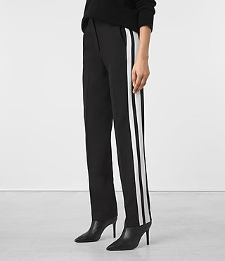 Women's Astara Trousers (Black) - product_image_alt_text_2