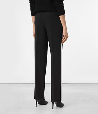 Women's Astara Trousers (Black) - product_image_alt_text_3