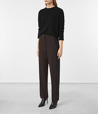 Donne Astara Trousers (Oxblood) -