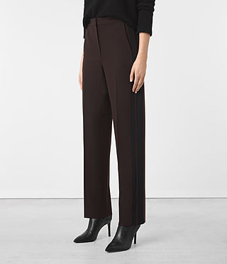 Donne Astara Trousers (Oxblood) - product_image_alt_text_2