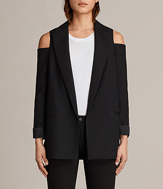 Mujer Nora Blazer (Black) - product_image_alt_text_1