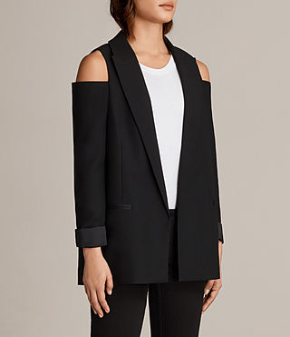 Mujer Nora Blazer (Black) - product_image_alt_text_3