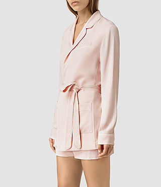 Women's Ivana Blazer (GHOST PINK) - product_image_alt_text_3