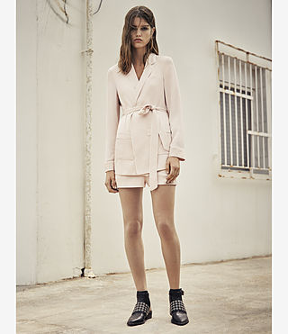 Women's Ivana Blazer (GHOST PINK) - product_image_alt_text_5