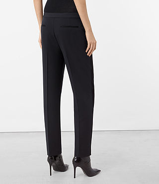 Women's Asta Trousers (Ink Blue) - product_image_alt_text_3