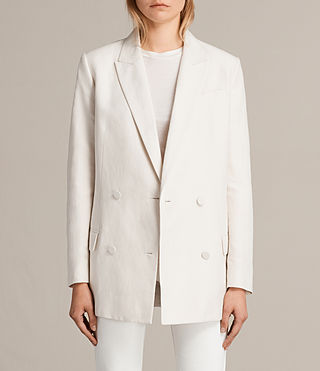 Womens Alice Blazer (CERAMIC WHITE) - product_image_alt_text_1