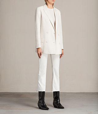 Womens Alice Blazer (CERAMIC WHITE) - product_image_alt_text_2