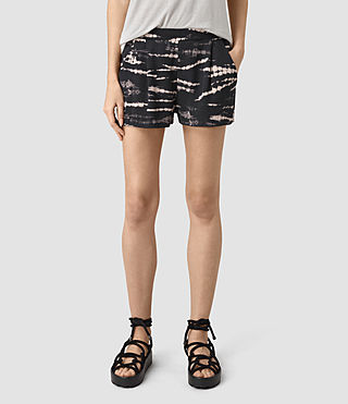 Womens Odelia Tye Shorts (BLACK/PINK) - product_image_alt_text_2