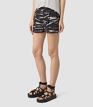 Womens Odelia Tye Shorts (BLACK/PINK) - product_image_alt_text_3