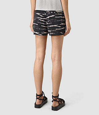 Womens Odelia Tye Shorts (BLACK/PINK) - product_image_alt_text_4