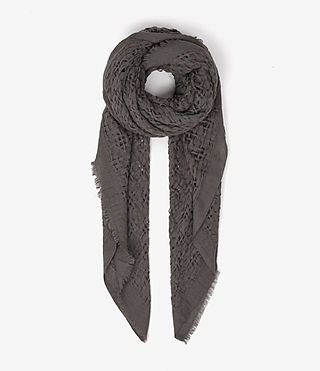 Womens Gard Scarf (MINK GREY)