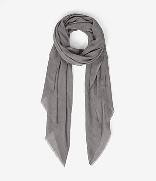 Womens Eure Scarf (Stone Grey) - product_image_alt_text_1