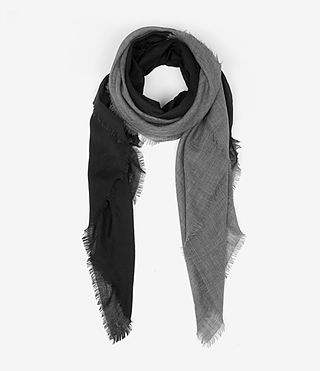Mujer Loire Scarf (CINDER BLK DEGRADE) -