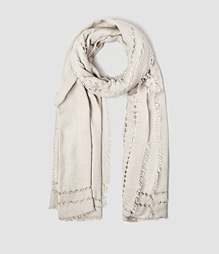 Womens Spine Scarf (PORCELAIN WHITE) - product_image_alt_text_1
