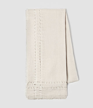 Women's Spine Scarf (PORCELAIN WHITE) - product_image_alt_text_3