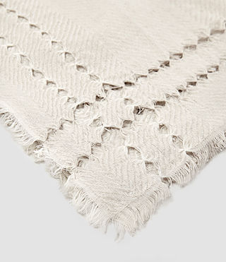 Women's Spine Scarf (PORCELAIN WHITE) - product_image_alt_text_4
