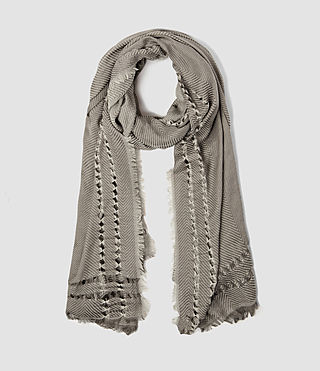 Womens Spine Scarf (Fawn Brown Marl)