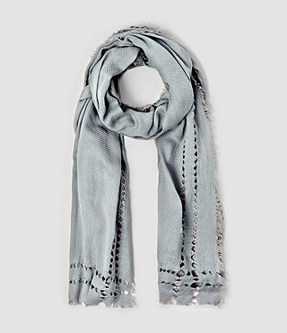Womens Spine Scarf (Light Blue)