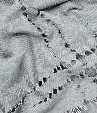 Womens Spine Scarf (Light Blue) - product_image_alt_text_2