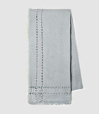 Womens Spine Scarf (Light Blue) - product_image_alt_text_3