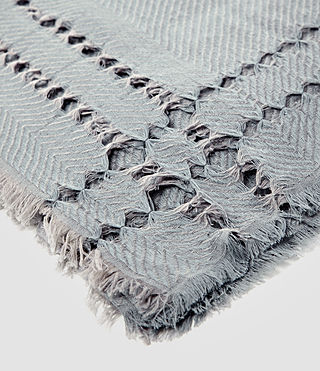 Womens Spine Scarf (Light Blue) - product_image_alt_text_4