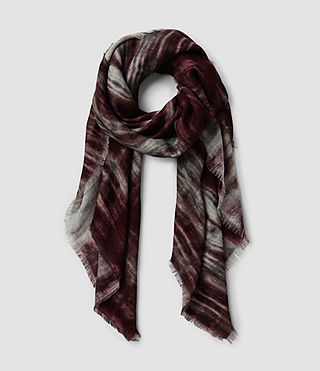 Womens Black Iris Scarf (DARK BURGUNDY/GREY)