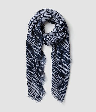 Womens Alabama Sunset Scarf (Dark Ink/Lt Blue)