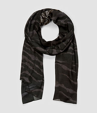 Womens Ophidian Scarf (DARK BURGUNDY/GREY)