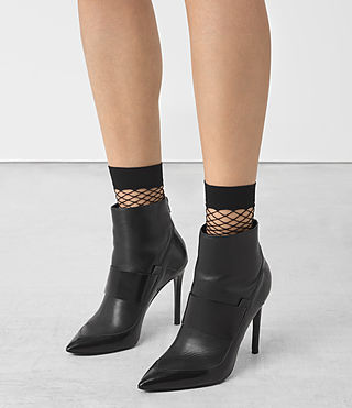 Damen Net Socks (Black) - product_image_alt_text_3