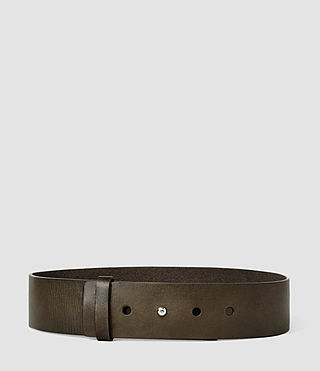 Femmes Mimosa Leather Waist Belt (Khaki) -