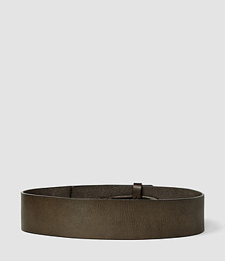 Femmes Mimosa Leather Waist Belt (Khaki) - product_image_alt_text_2