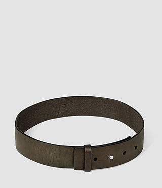 Femmes Mimosa Leather Waist Belt (Khaki) - product_image_alt_text_3