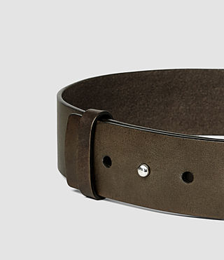 Femmes Mimosa Leather Waist Belt (Khaki) - product_image_alt_text_4