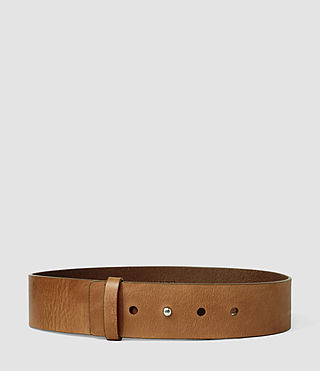 Mujer Mimosa Leather Waist Belt (Tan) -