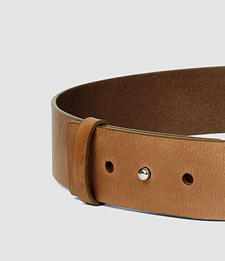 Mujer Mimosa Leather Waist Belt (Tan) - product_image_alt_text_4