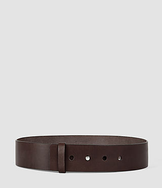 Womens Mimosa Leather Waist Belt (Chocolate Brown)