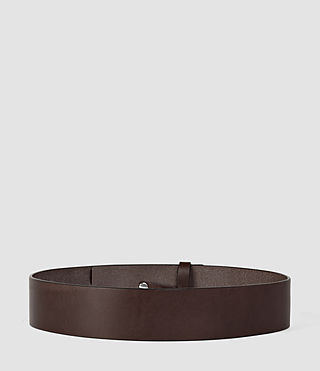 Womens Mimosa Leather Waist Belt (Chocolate Brown) - product_image_alt_text_2