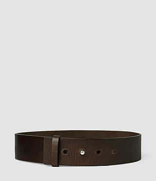 Damen Mimosa Leather Waist Belt (DARK CHOCOLATE)