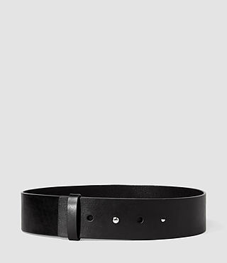 Femmes Mimosa Leather Waist Belt (Black) -