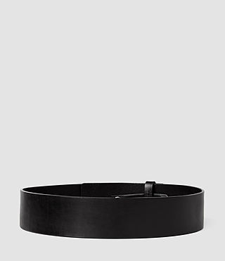 Femmes Mimosa Leather Waist Belt (Black) - product_image_alt_text_2