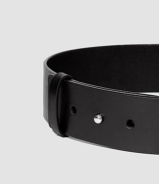 Mujer Mimosa Leather Waist Belt (Black) - product_image_alt_text_4