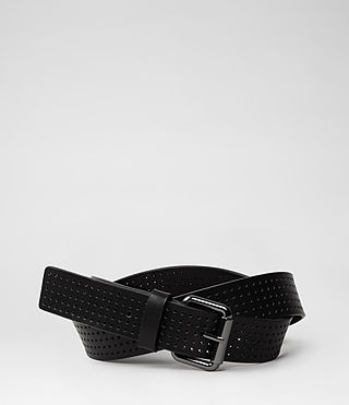 Womens Jeans Belt (Black Perforated)